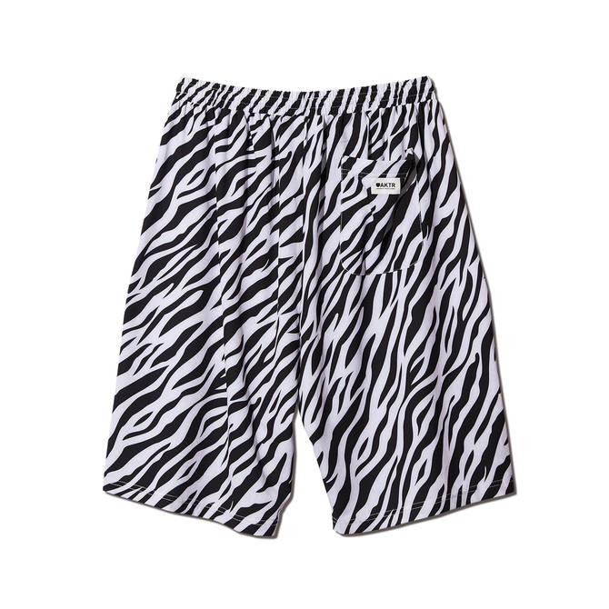 AKTR ZEBRA SHORTS WHITE
