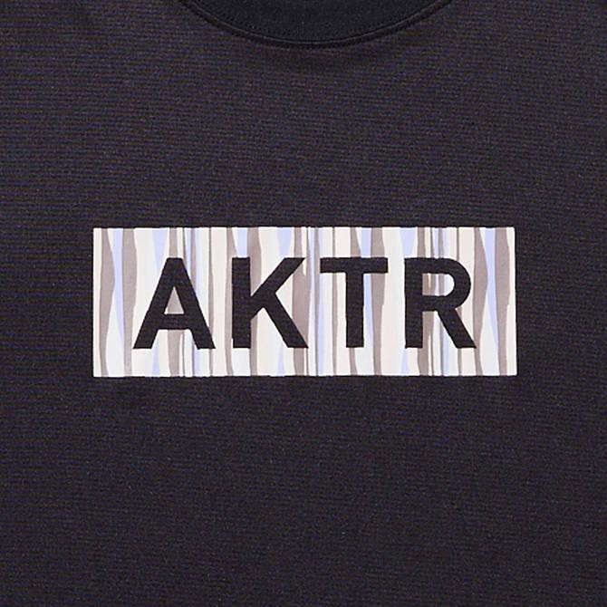 AKTR SUMMER STRIPE BOX LOGO SPORTS TEE BLACK
