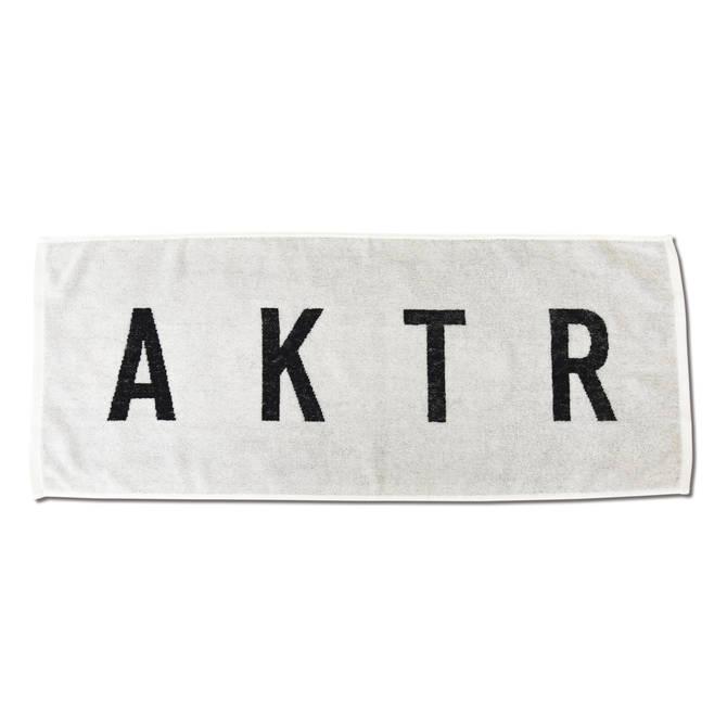 AKTR SPORTS TOWEL LOGO WH×BK