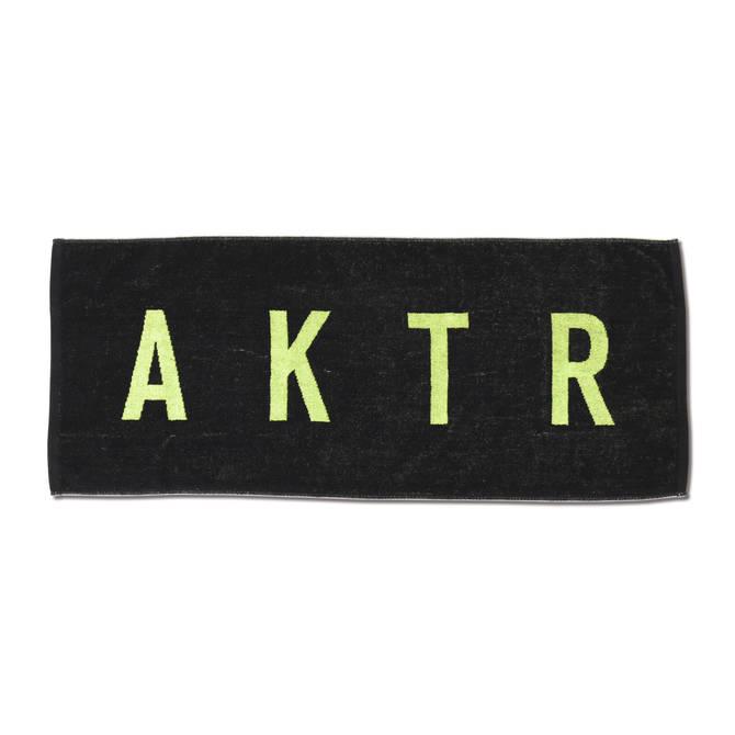 AKTR SPORTS TOWEL LOGO BK×GR