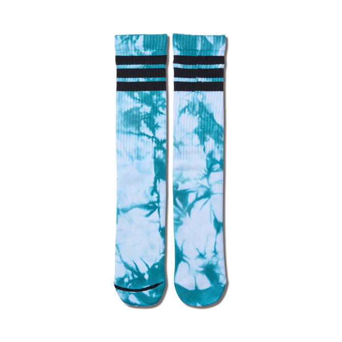 AKTR TIE DYE MONSTER SOCKS WHITExGREEN