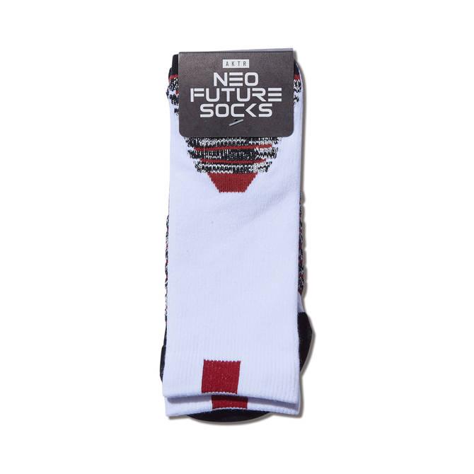 AKTR NEO FUTURE SOCKS WHITE【121-041021】