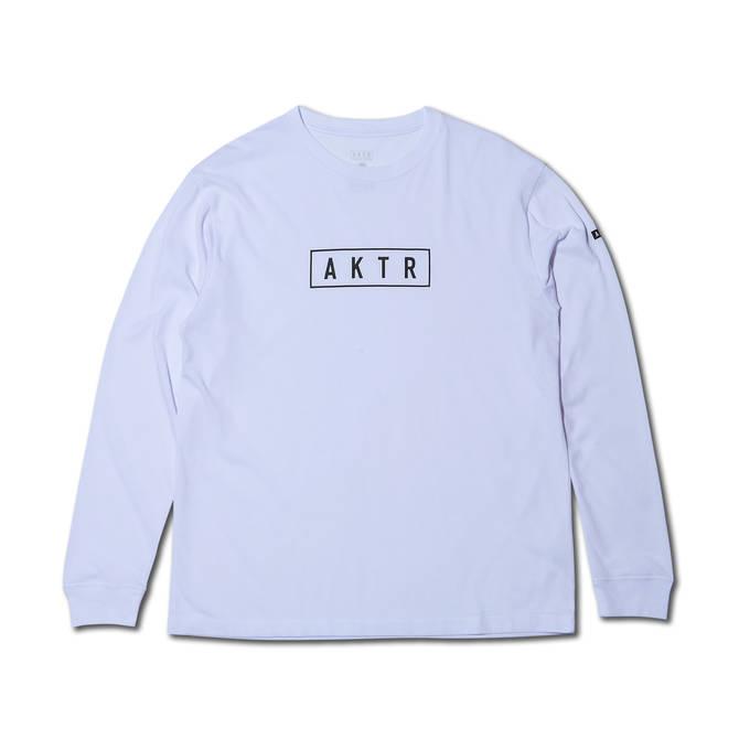 AKTR LOGO L/S TEE WHITE