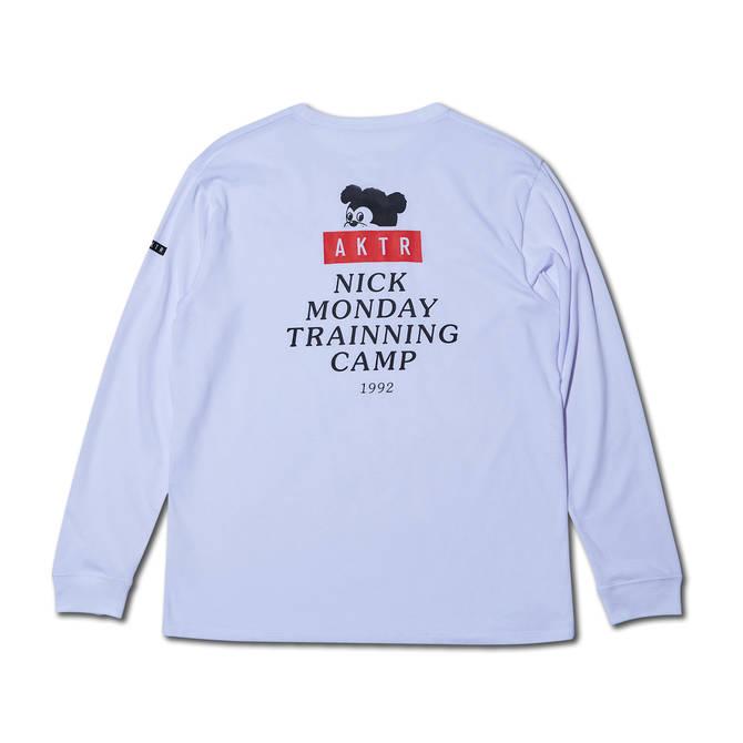 AKTR NICK MONDAY TRAINING CAMP L/S TEE WHITE