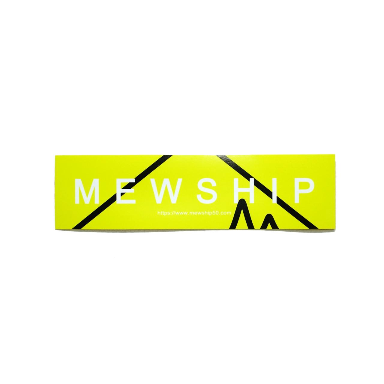 Mewship50 90SOCKS L24 <F.Yellow×Black×White>