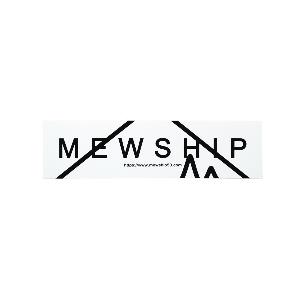 MEWSHIP 90SOCKS L15 <White×White×Black>