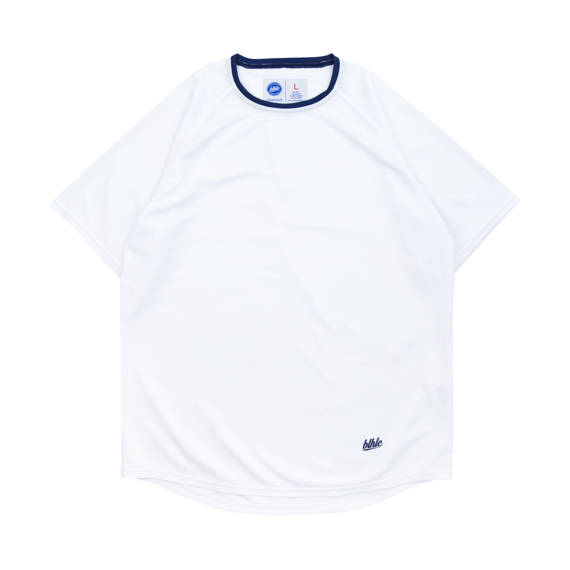 blhlc COOL Tee (white/navy)