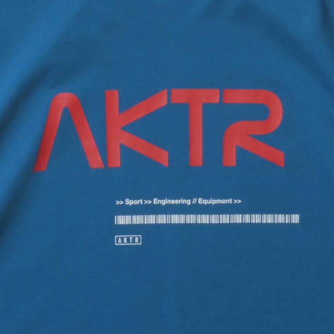 AKTR SPACE AKTR LOGO L/S TEE BLUE【221-003005】