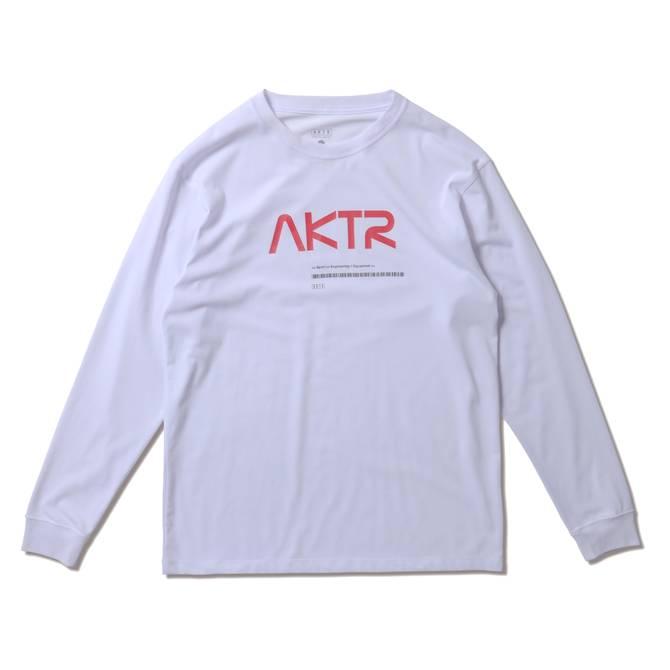 AKTR SPACE AKTR LOGO L/S TEE WHITE【221-003005】