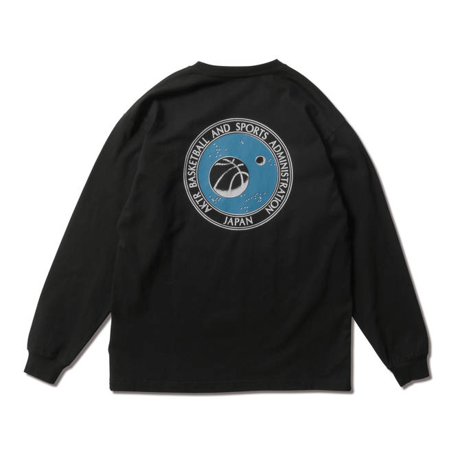 AKTR SPACE CIRCLE LOGO L/S TEE BLACK【221-002005】