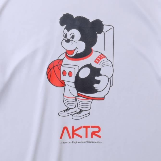 AKTR SPACE NICK L/S SPORTS TEE WHITE【221-004005】
