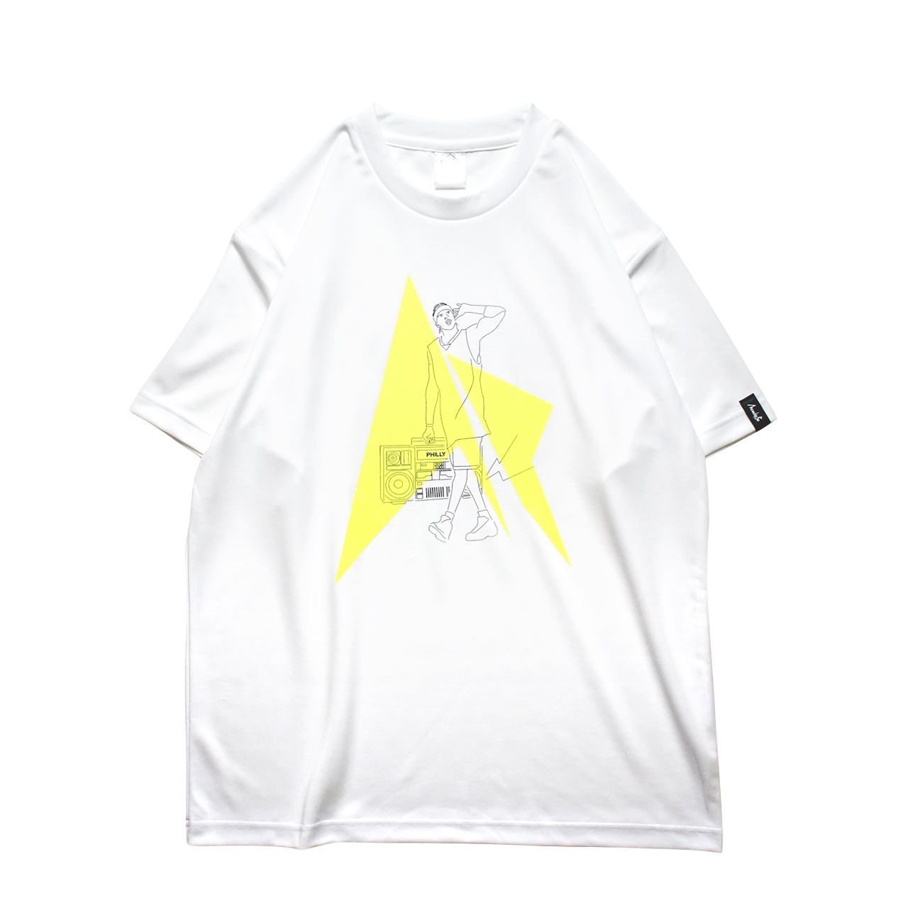 Mewship50 HipHop Philly S/S PL <White×Black×F.Yellow>