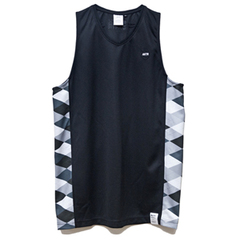 AKTR GAMEWEAR TOPS BLACK ARGYLE