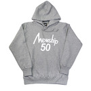 Mewship50【50LOGO HOODIE】pullover (GY×WH)