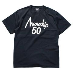 Mewship50【50LOGO】S/S CT (BKWH)