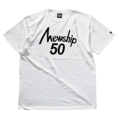 Mewship50【50LOGO】S/S CT (WHBK)