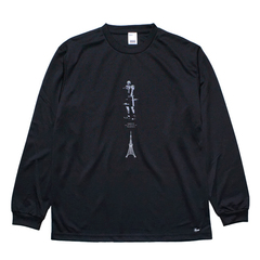 Mewship50【TOWER OF #T】L/S PL BK×GY