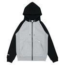 ballaholic【2TONE Full Zip Hoodie】gray/black