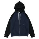 ballaholic【2TONE Full Zip Hoodie】navy/black