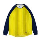 ballaholic【STRIPE COOL LongTee】yellow/navy