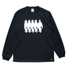 Mewship50【little MICKYS】L/S PL (BK×WH)