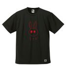BBオリジナル【メガネくん - うさぎ】Tシャツ BK×RD