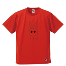 BBオリジナル【メガネくん - うさぎ】Tシャツ RD×BK
