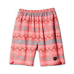 AKTR ISLAND BORDER18 SHORTS RED