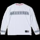 SPALDING L/S Tシャツ NORDIC【SMT181200 WH】