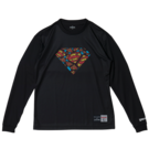 SPALDING L/S Tシャツ SUPERMAN TEXTART【SMT181270】