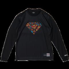 SPALDING L/S Tシャツ SUPERMAN TEXTART【SMT181270 BK】