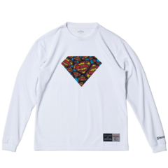 SPALDING L/S Tシャツ SUPERMAN TEXTART【SMT181270 WH】