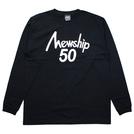 Mewship50【50 LOGO】L/S CT (BK×WH)