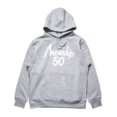 Mewship50【50 LOGO HOODIE】pullover (GY×WH)
