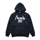 Mewship50【50 LOGO HOODIE】pullover (BK×WH)