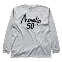 Mewship50【50LOGO】L/S CT (GY×BK)