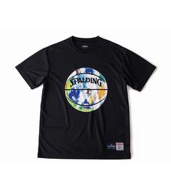 SPALDING Tシャツ マーブル【SMT190200 BK×ML】