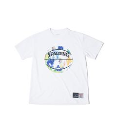 SPALDING Tシャツ マーブル【SMT190200 WH×ML】