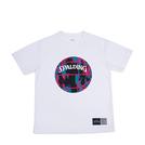 SPALDING Tシャツ マーブル【SMT190200 WH×PK】