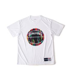 SPALDING Tシャツ マーブル【SMT190200 WH×PP】