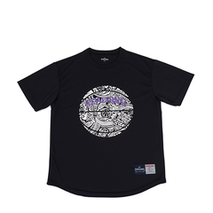 SPALDING Tシャツ ポリネシアンボール【SMT190250 BK】