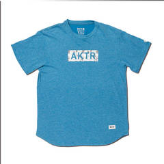 AKTR BLEEDING CAMO BOX LOGO TEE BLUE