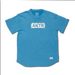 AKTR BLEEDING CAMO BOX LOGO TEE BLUE
