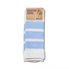 AKTR MONSTER SOCKS (WHITExL-BLUE)