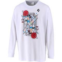 コンバース 9Fプリントロングスリーブシャツ【CB292318L 1100】