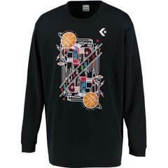 コンバース 9Fプリントロングスリーブシャツ【CB292318L 1900】