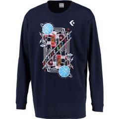 コンバース 9Fプリントロングスリーブシャツ【CB292318L 2900】