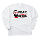 FEAR THE BEARD L/S TEE WH