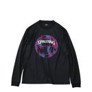 SPALDING L/S Tシャツ マーブルボール【MT191210 BK×PNK】