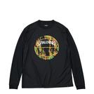 SPALDING L/S Tシャツ マーブルボール【MT191210 BK×OR】